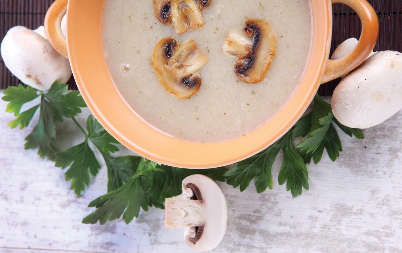 Skinny 'Cream' of<br>Mushroom Soup