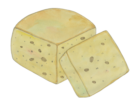 Kefalotyri Cheese illustration