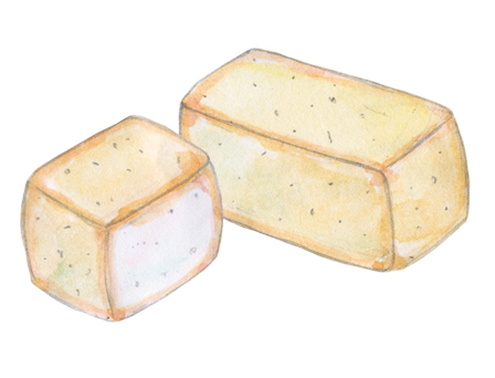Cow's Milk Grevenon Cheese illustration