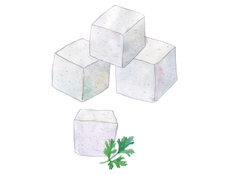 Sheep & Goat's Milk Feta Cubes illustration