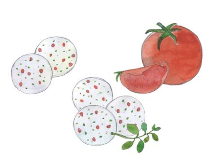 Tomato & Oregano Feta Bites illustration