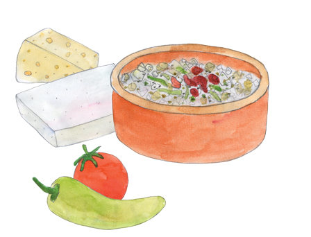 Bake & Eat Feta Cheese Appetizer illustration