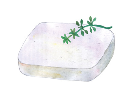 Manouri P.D.O. Cheese illustration