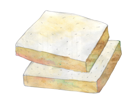 Smoked Cheese from Feta illustration