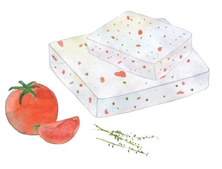 Cheese with Tomato & Oregano illustration