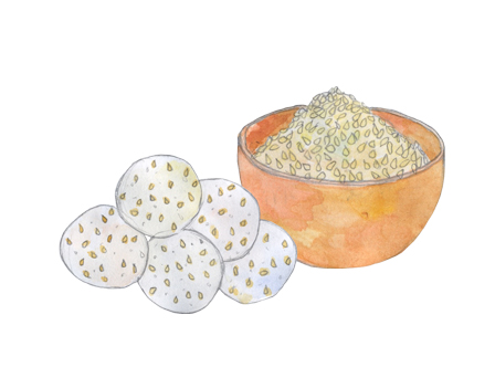 Sesame Feta Bites illustration