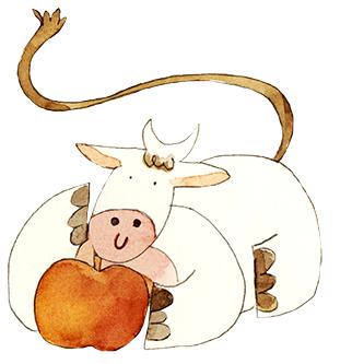Drinkable Yogurt Apples illustration
