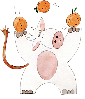 Drinkable Yogurt Mandarins illustration
