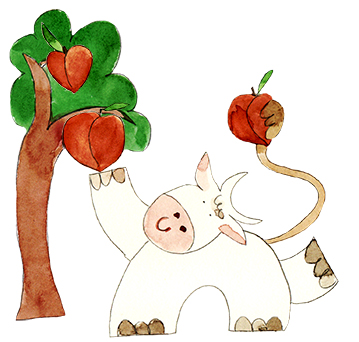 Drinkable Yogurt Peaches illustration